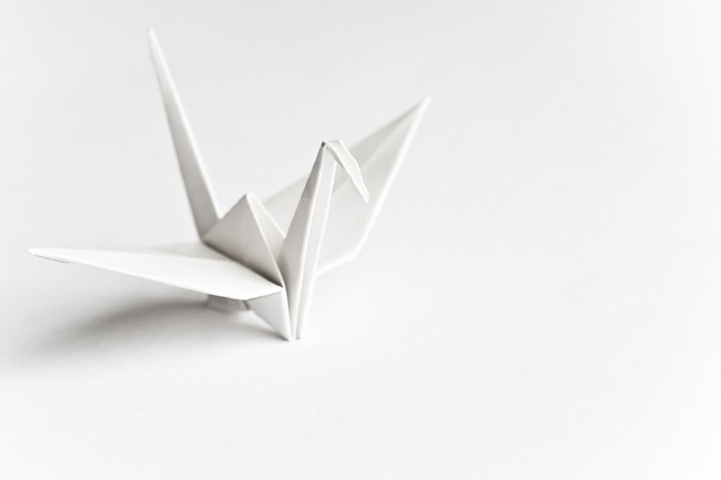 White Origami Bird