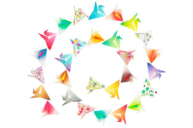 Spiral paper birds