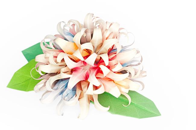 Paper Flower Ball on White